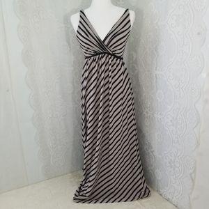 Soma Tan and Black Maxi Dress